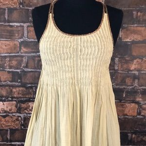 New Romantics tank with copper rattan trim
